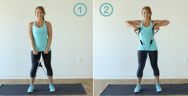 elastiband exercice - elastique fitness